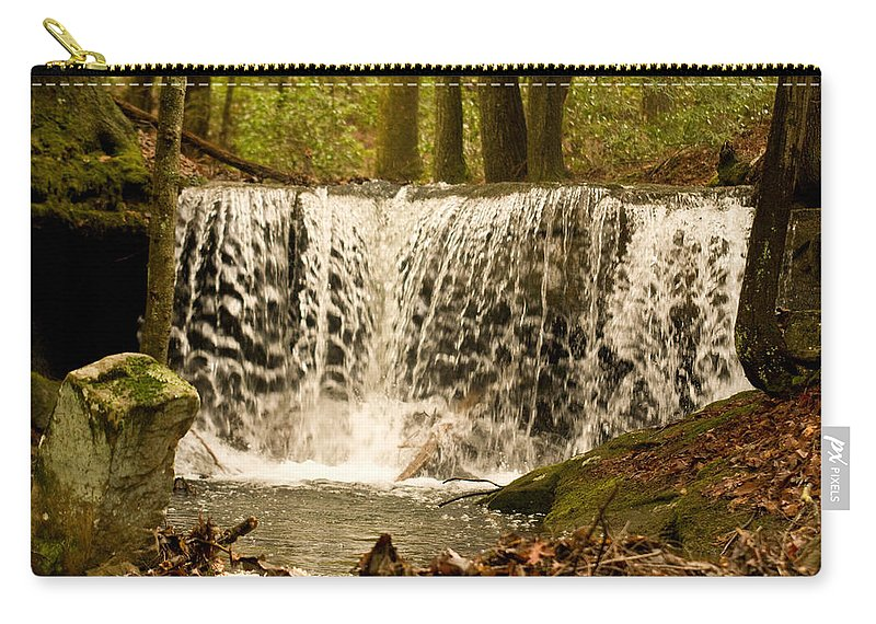 Lacy Carry-all Pouch featuring the photograph Lacy Waterfall by Douglas Barnett