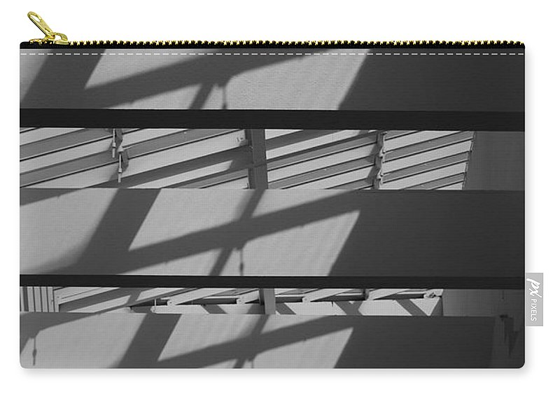 Black And White Carry-all Pouch featuring the photograph Ladders In The Sky by Rob Hans