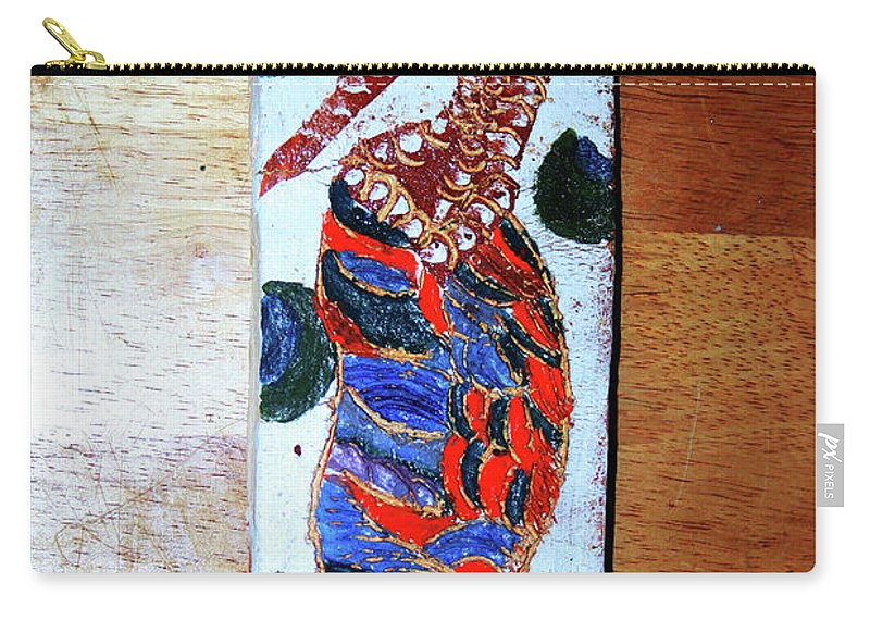 Jesus Elohimplaquesmamamama Africa Twojesus Carry-all Pouch featuring the ceramic art Ladies Await 12 by Gloria Ssali