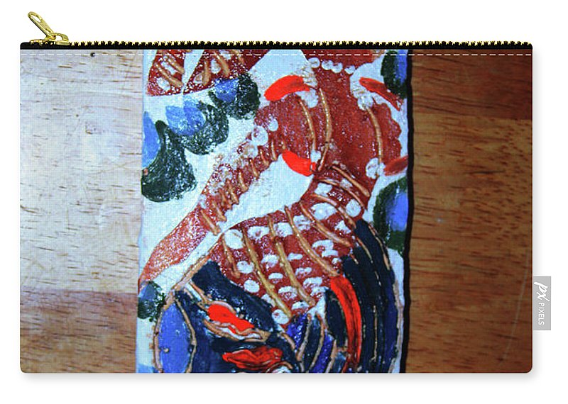 Jesus Elohimplaquesmamamama Africa Twojesus Carry-all Pouch featuring the ceramic art Ladies Await 9 by Gloria Ssali