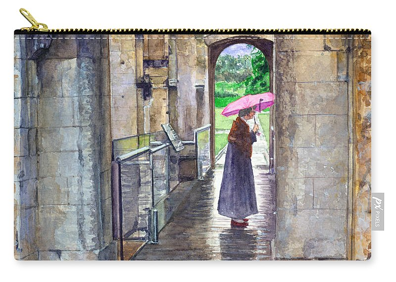 Glastonbury Carry-all Pouch featuring the painting Lady Chapel by John D Benson