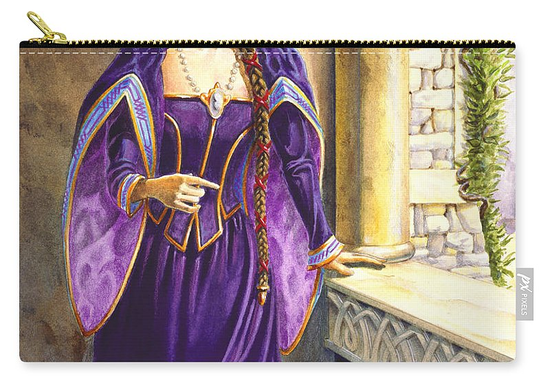 Camelot Carry-all Pouch featuring the painting Lady Ettard by Melissa A Benson