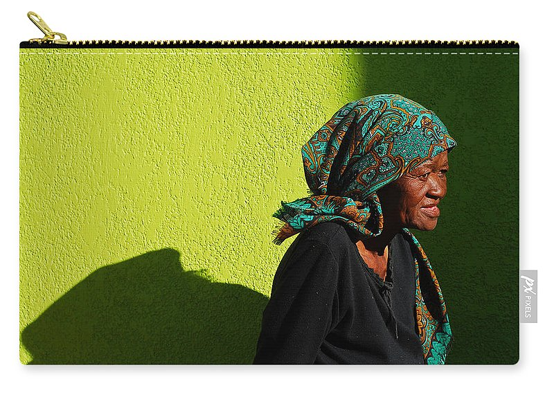 Africa Carry-all Pouch featuring the photograph Lady In Green by Skip Hunt