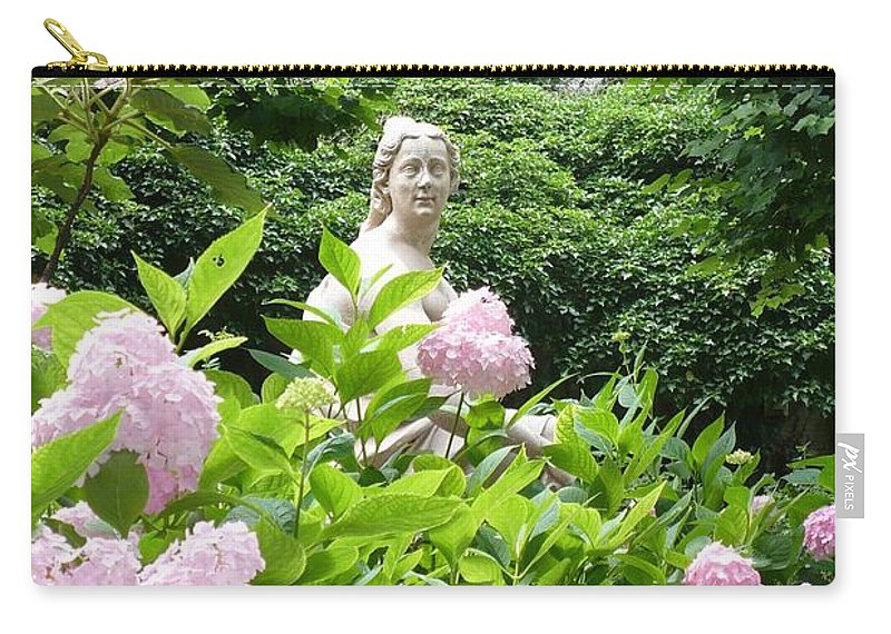 Garden Carry-all Pouch featuring the photograph Lady In Salzburg Garden by Carol Groenen