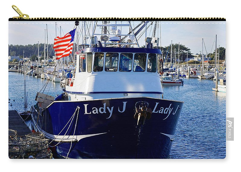 Fishing Boat Carry-all Pouch featuring the photograph Lady J by Scott Hill