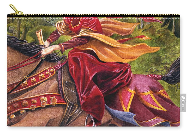 Camelot Carry-all Pouch featuring the painting Lady Lunete by Melissa A Benson