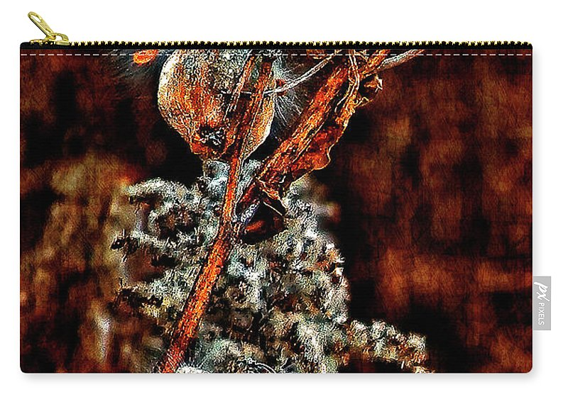 Milkweed Carry-all Pouch featuring the photograph Lady Of The Dance II by Steve Harrington