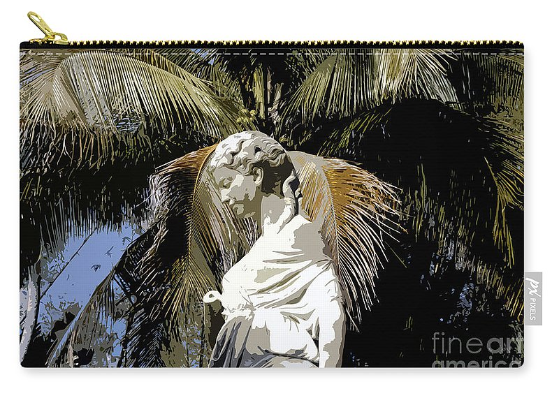 Statue Carry-all Pouch featuring the painting Lady Of The Palms by David Lee Thompson