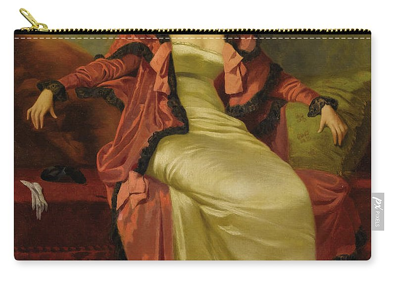 Vincent G. Stiepevich Carry-all Pouch featuring the painting Lady by MotionAge Designs