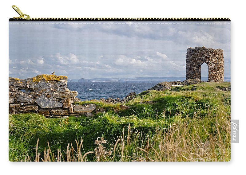 Ruins Of Lady's Tower Carry-all Pouch featuring the photograph Lady's Tower by Elena Perelman