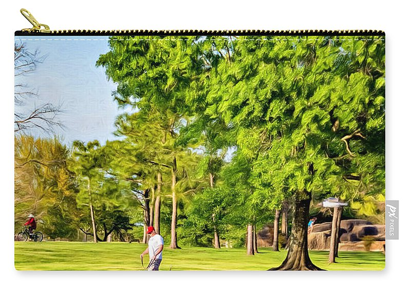 Lafreniere Park Carry-all Pouch featuring the photograph Lafreniere Park 2 - Paint by Steve Harrington