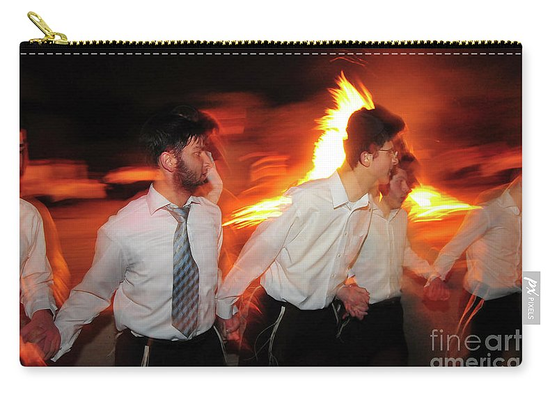 Bonfire Carry-all Pouch featuring the photograph Lag B'omer by Shay Levy