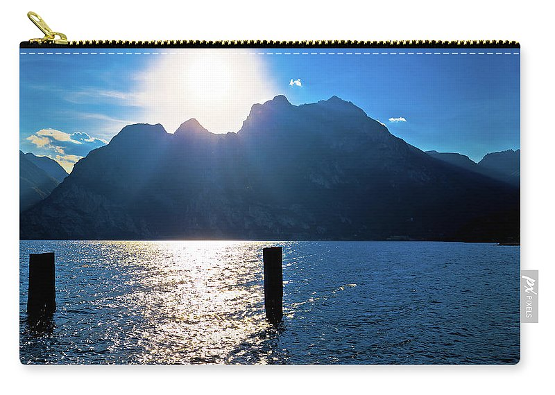 Garda Carry-all Pouch featuring the photograph Lago Di Garda At Sunset View by Brch Photography