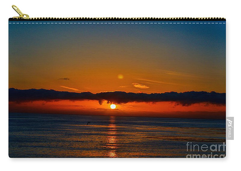 Sunset Carry-all Pouch featuring the photograph Laguna Beach Sunset by Tommy Anderson