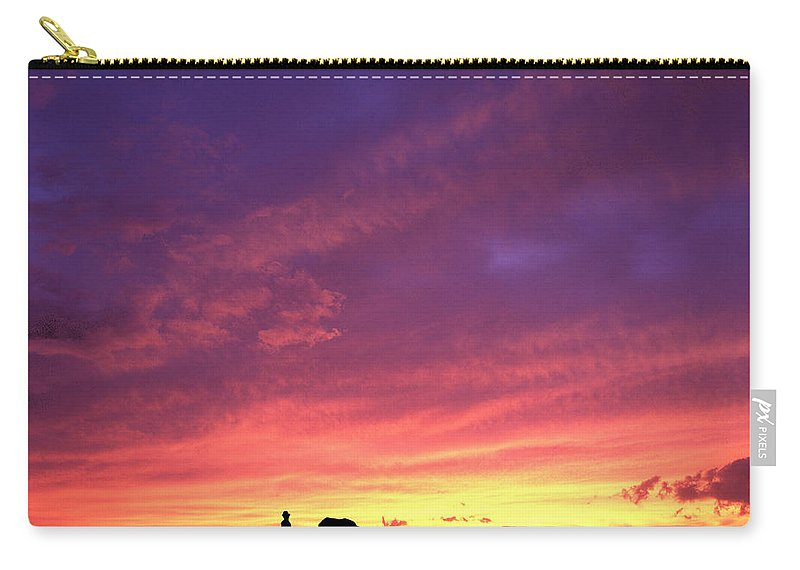 Sunset Carry-all Pouch featuring the photograph Laguna Sunset by George Cabig
