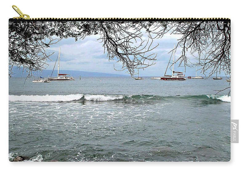 Lahaina Carry-all Pouch featuring the photograph Lahaina Beach by Joan Minchak