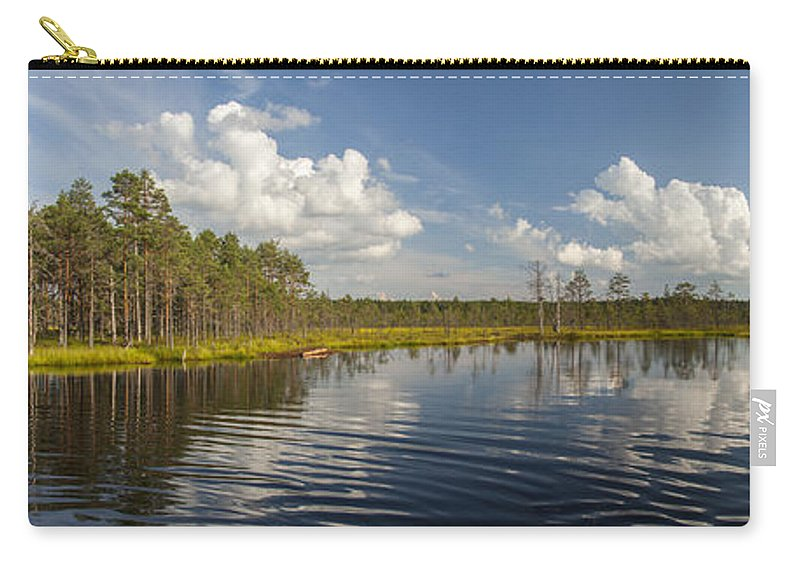 Panorama Carry-all Pouch featuring the photograph Lahemaa Panorama by Sandra Rugina