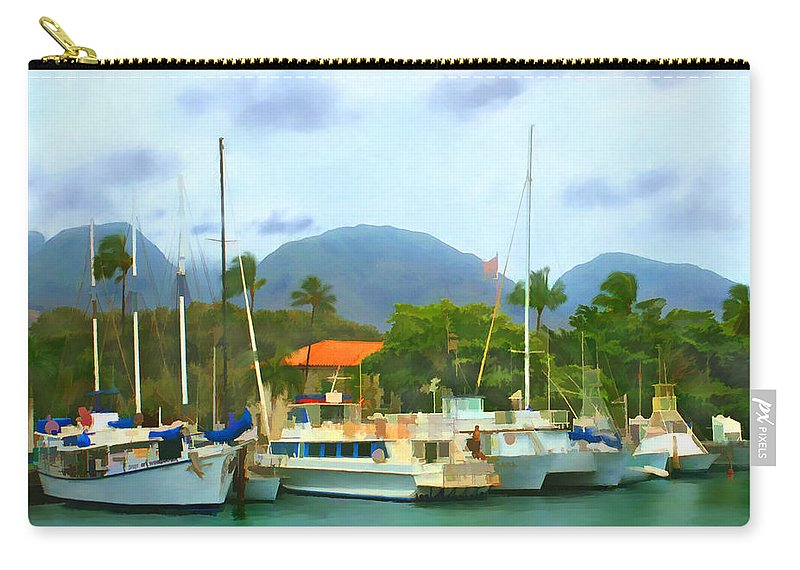Lahina Carry-all Pouch featuring the photograph Lahina Harbor by Kurt Van Wagner