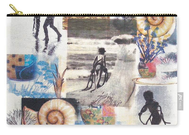 Abstract Carry-all Pouch featuring the painting Lajolla by Valerie Meotti