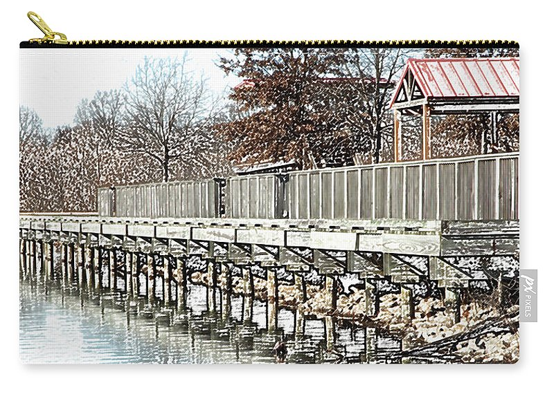 Lakes Carry-all Pouch featuring the photograph Lake by Amanda Barcon