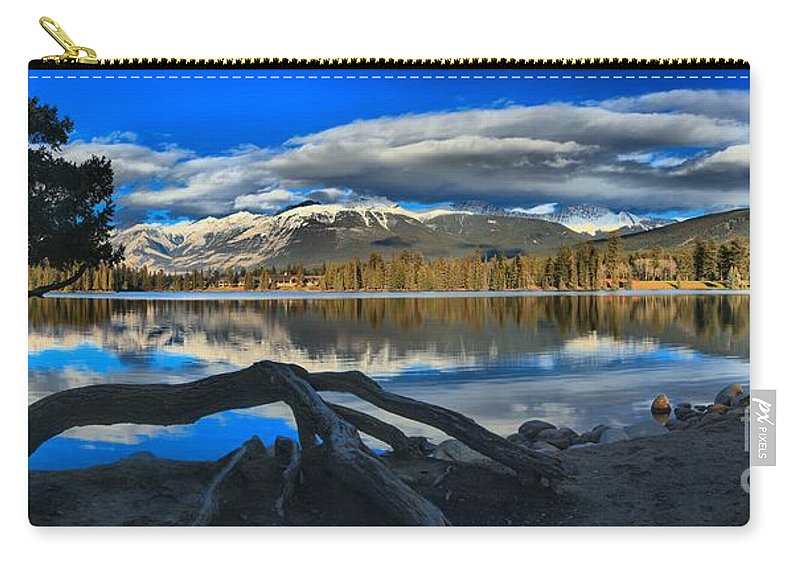 Lake Beauvert Carry-all Pouch featuring the photograph Lake Beauvert Roots by Adam Jewell