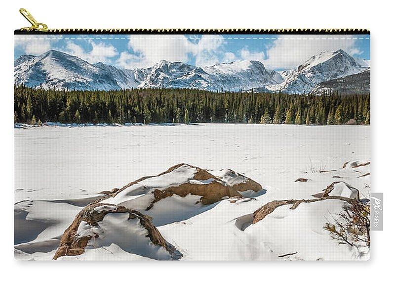 Lake Bierstadt Carry-all Pouch featuring the photograph Lake Bierstadt Ver.2 by Robert VanDerWal