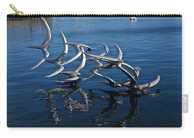 Lake Eola Carry-all Pouch featuring the photograph Lake Birds by Denise Mazzocco