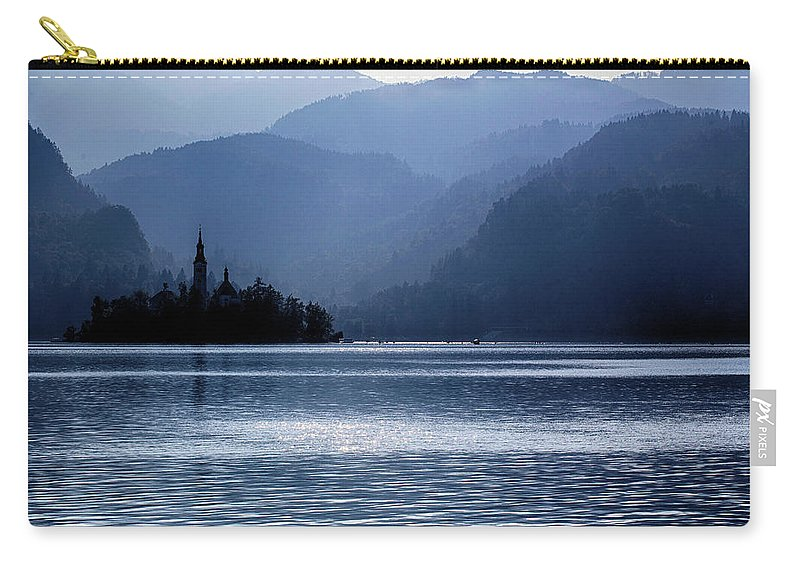 Lake Carry-all Pouch featuring the photograph Lake Bled Twilight by Ceri Jones