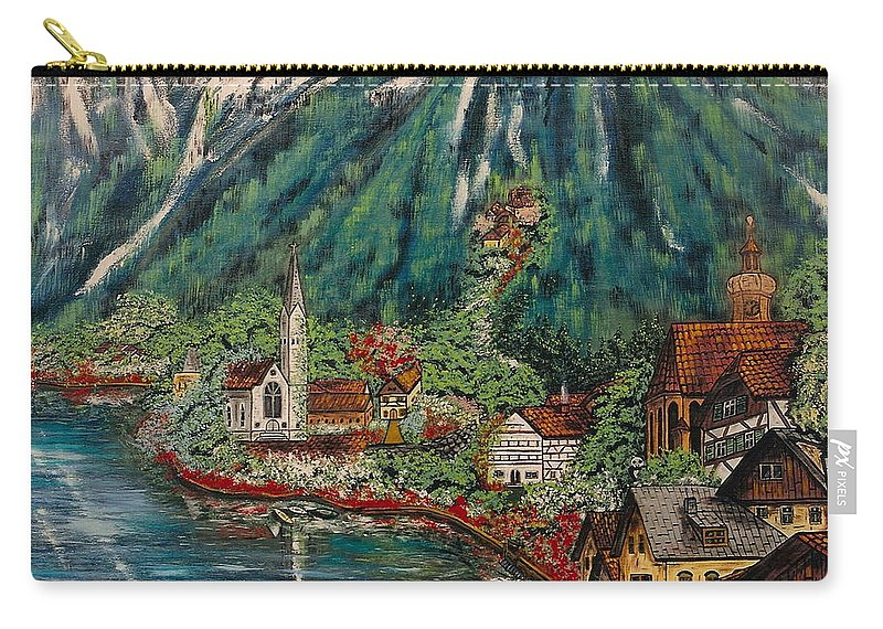Austria Carry-all Pouch featuring the painting Lake Constance by V Boge