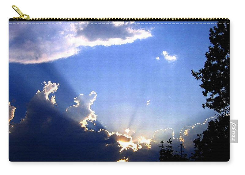 Sunburst Carry-all Pouch featuring the photograph Lake Country Sunburst by Will Borden