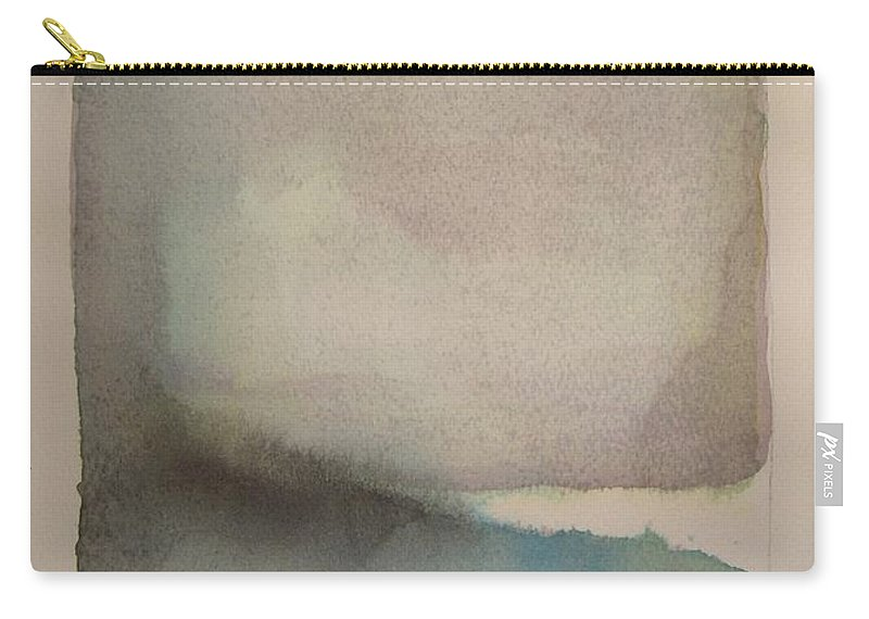 Abstract Carry-all Pouch featuring the painting Lake Dayspring by Vesna Antic