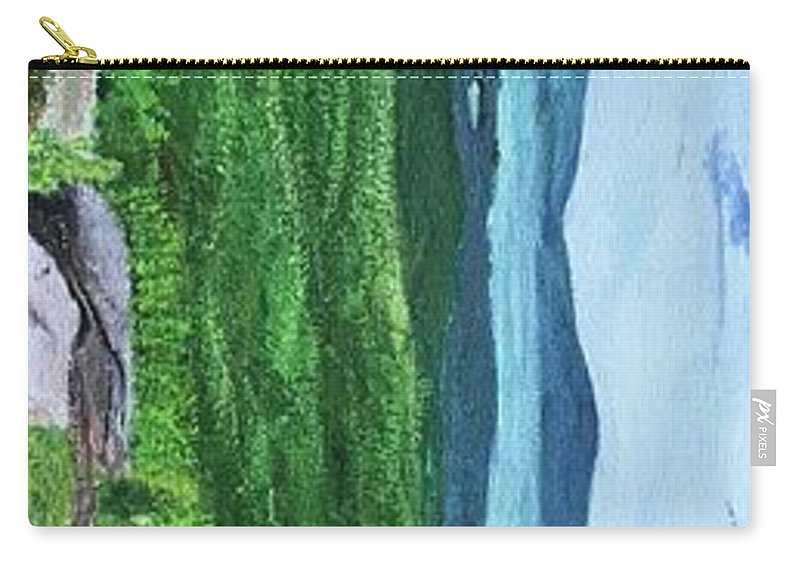 Landscape Lake George New York Adirondacks Summer Spring Mountain Carry-all Pouch featuring the painting Lake George by Jessie Kirker