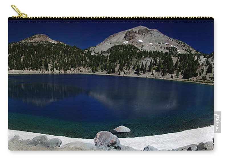 Mirror Carry-all Pouch featuring the photograph Lake Helen Lassen by Peter Piatt