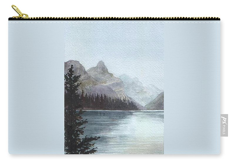 Watercolor Carry-all Pouch featuring the painting Lake Helevorn by Brenda Owen