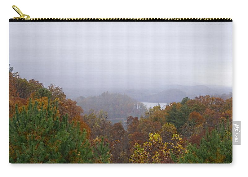 Lake Carry-all Pouch featuring the photograph Lake In The Distance by Phyllis Dabbs