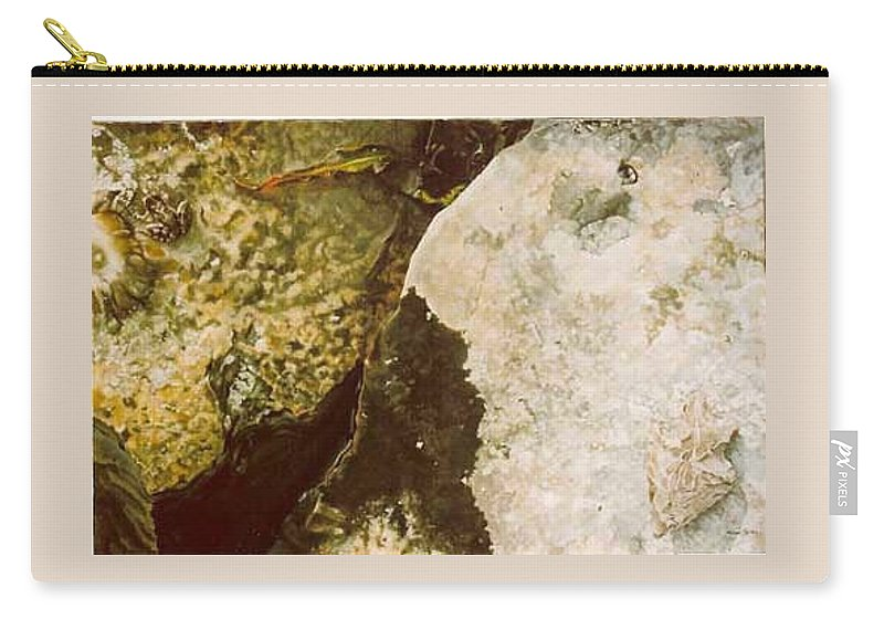 Hyperrealism Carry-all Pouch featuring the painting Lake Level Dropping by Michael Earney