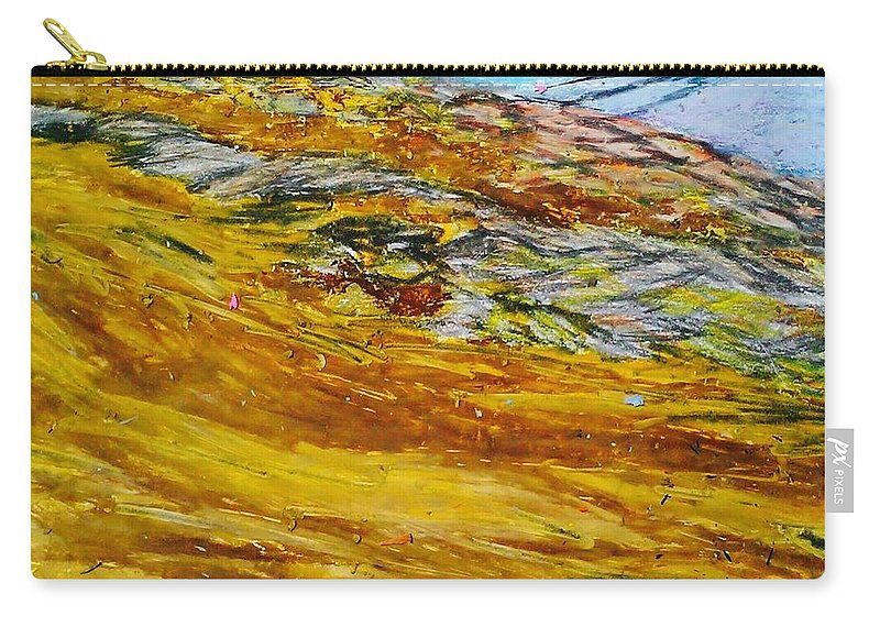 Mountain Carry-all Pouch featuring the drawing Lake Los Angeles Evening Somg by Ishy Christine MudiArt Gallery