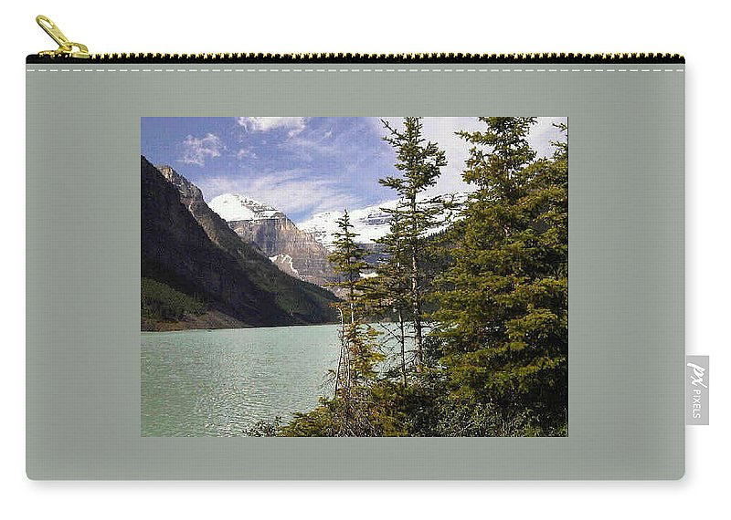 Water Carry-all Pouch featuring the photograph Lake Louise, Banff, Alberta, Canada by Darla Hershey