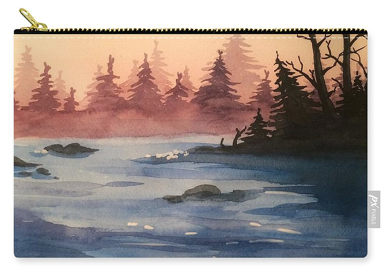 Lake Carry-all Pouch featuring the painting Lake by Maiia Maiorova