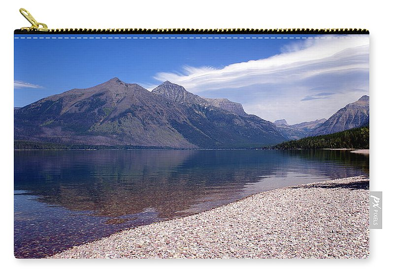 Glacier National Park Carry-all Pouch featuring the photograph Lake Mcdonald Reflection Glacier National Park 4 by Marty Koch