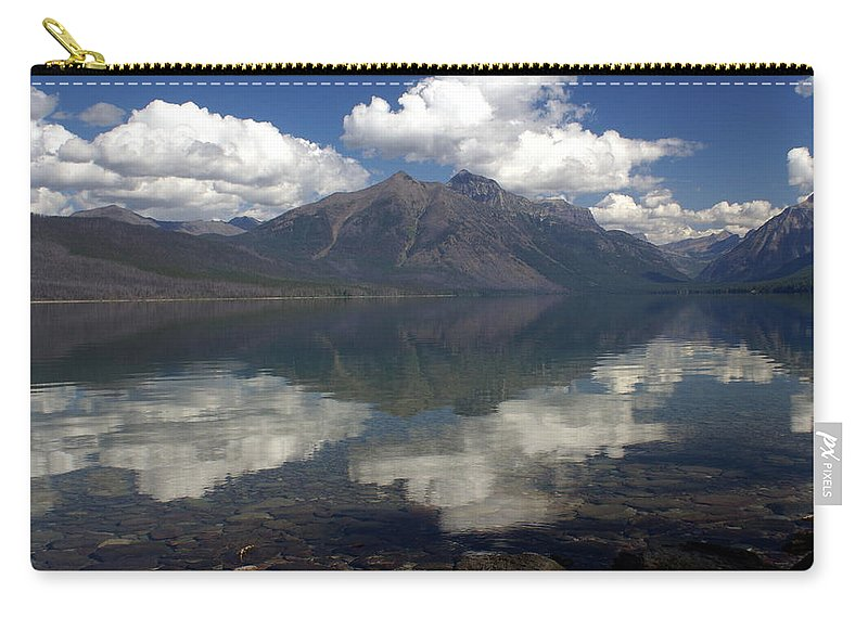 Glacier National Park Carry-all Pouch featuring the photograph Lake Mcdonald Reflection Glacier National Park by Marty Koch