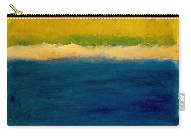 Dunes Carry-all Pouch featuring the painting Lake Michigan Beach Abstracted by Michelle Calkins