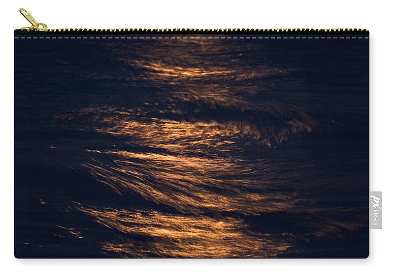 Chicago Carry-all Pouch featuring the photograph Lake Michigan Moonrise by Steve Gadomski