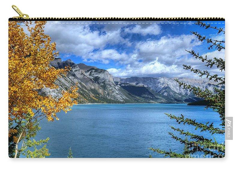 Animals Carry-all Pouch featuring the photograph Lake Minnewanka Banff National Park Alberta Canada by Wayne Moran