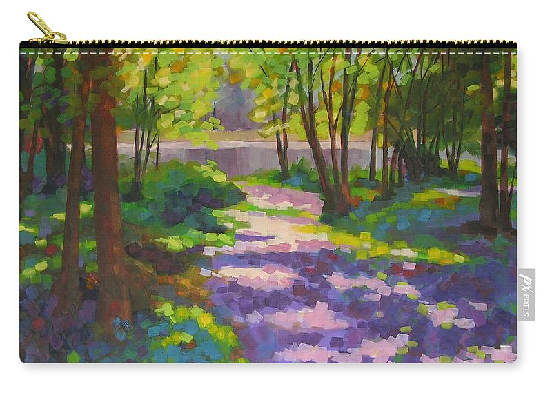 Landscape Carry-all Pouch featuring the painting Lake Of The Hills by Mary McInnis