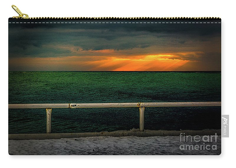 Blue Carry-all Pouch featuring the photograph Lake Ontario Dawn by Roger Monahan