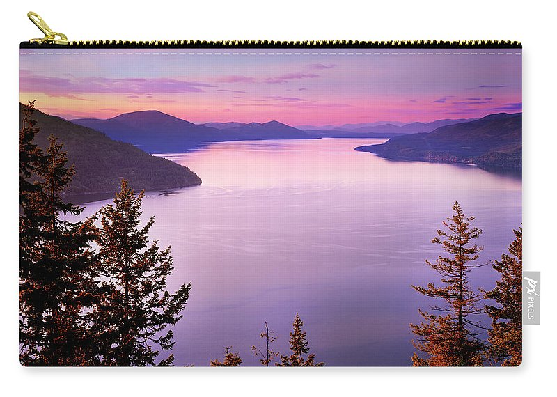 Idaho Scenics Carry-all Pouch featuring the photograph Lake Pend Oreille 2 by Leland D Howard