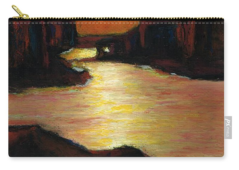 Lake Powell Carry-all Pouch featuring the painting Lake Powell At Sunset by Frances Marino