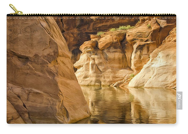 Morning Carry-all Pouch featuring the painting Lake Powell Stillness by Dominic Piperata