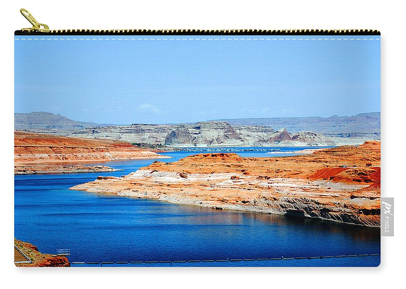 Photography Carry-all Pouch featuring the photograph Lake Powell by Susanne Van Hulst